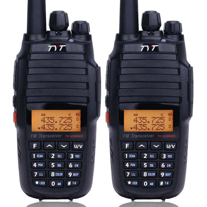 2PCS TYT TH UV8000D Walkie Talkie 10W Cross Band Reapeater 136 174/400 520MHz Dual Band 3600mAh Long Rang FM Transceiver Radio