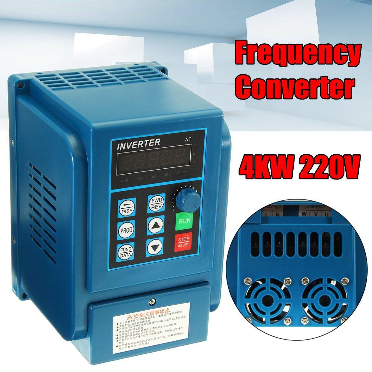 220V 4KW 50HZ/60HZ 5HP Variable Frequency Drive Inverter VFD New Arrival tp760 765 hz d7 0 1221a