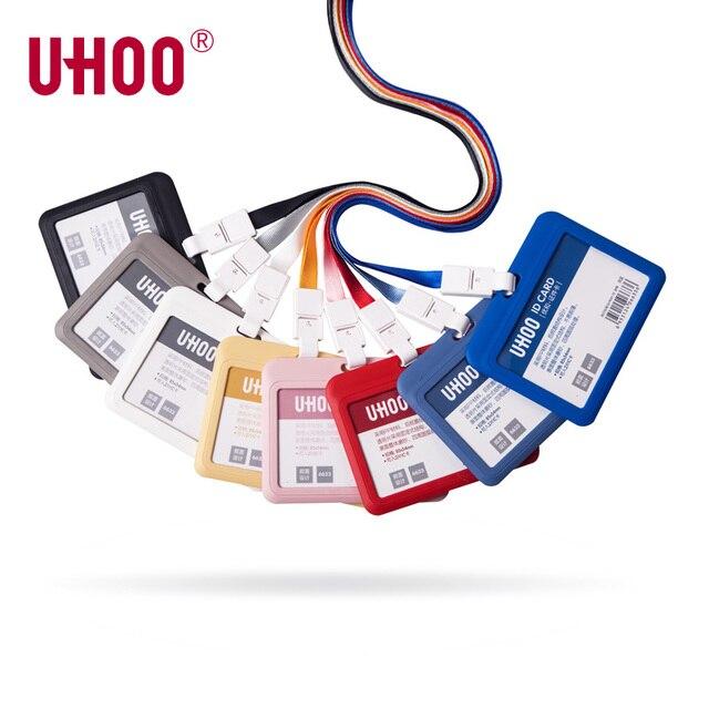 3deba71fa32 Uhoo 6633 Horizontal Pp Name Tag Id Card Holder Case Frame Cover With  Lanyard High Quality Neck Name Badge Holders-wholesale