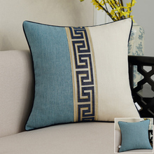 Merry Christmas Decorative Pillow Cover Linen Cotton Chinese Lace Cushion Sofa Chair Vintage Lumbar Covers