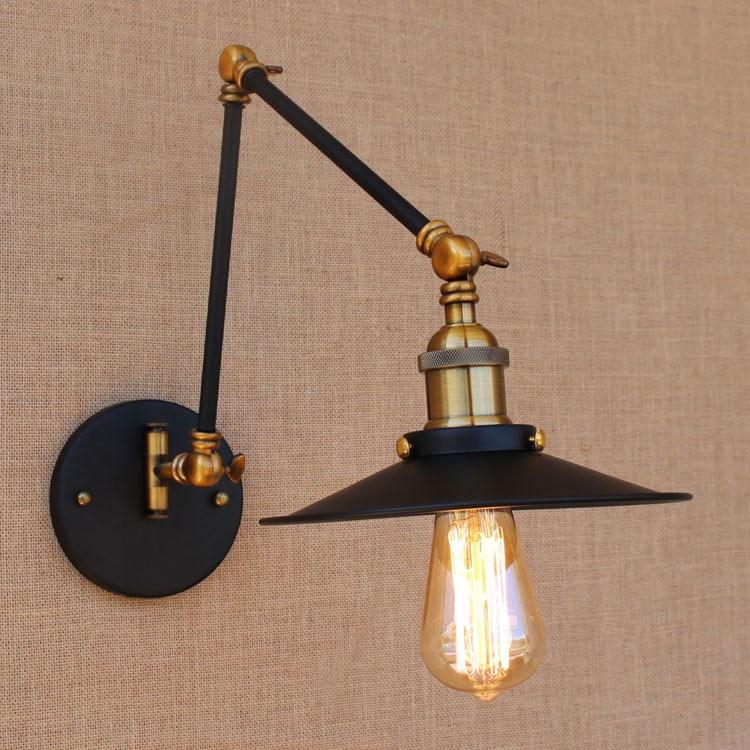 Adjustable Long Swing Arm Wall Light Fixture Edison Retro Vintage
