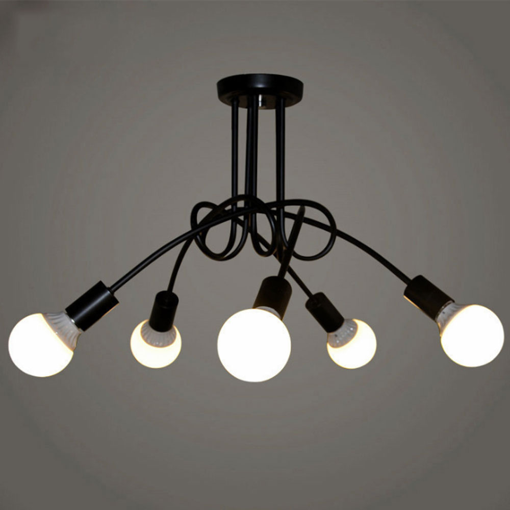 Hanglamp Led Design Modern Pendant Ceiling Lamps Creative Black White E27 Hanglamp Led Industrial Lamp Chandelier Lighting