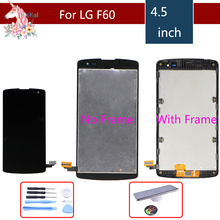 цена на 4.5 F60 LCD For LG Optimus F60 lcd screen D390 L Fino D290 D290N D295 LCD Display Touch Screen Digitizer with frame assembly