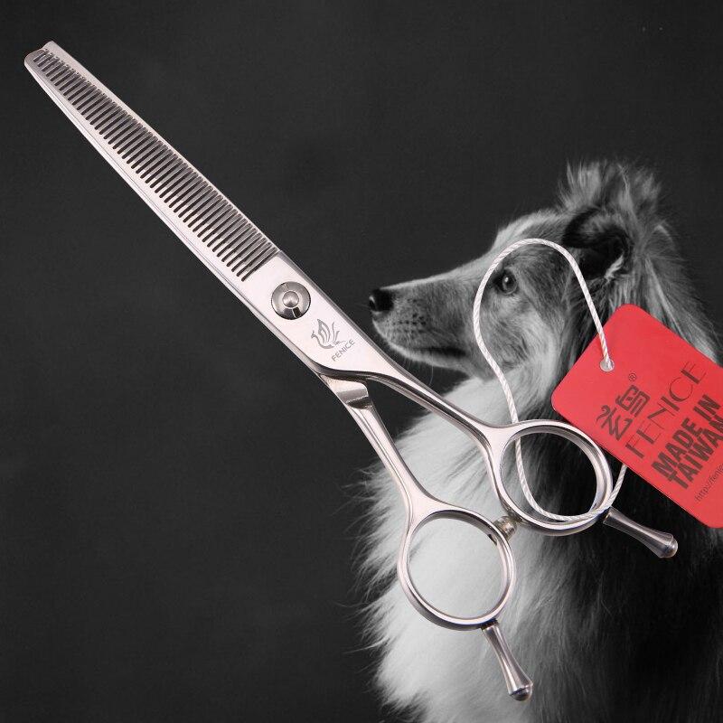 Fenice Professionale JP440c 6.25 pollice 46 denti di cane di Animale Domestico di Attrezzi strigliatura e tolettatura assottigliamento cesoie Forbici-in Forbici per cani da Casa e giardino su  Gruppo 1