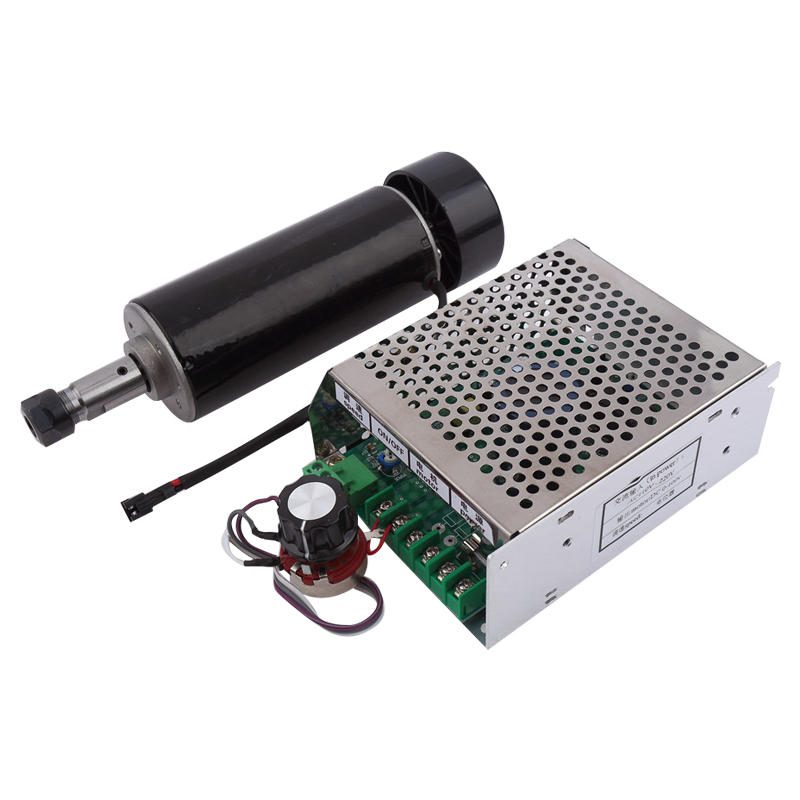 Mini CNC Router 500W Spindle Motor for Milling Machine Use with ER11 collet+Power SupplyMini CNC Router 500W Spindle Motor for Milling Machine Use with ER11 collet+Power Supply