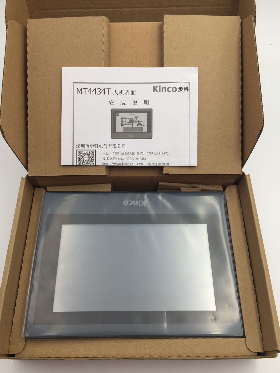 Kinco 7 inch HMI Touch Screen MT4434T Operator Panel 2 COM Port 1 USB Slave &Programming Cable&Software Use Easily New in box pws6a00t p hitech hmi touch screen 10 4 inch 640x480 new in box