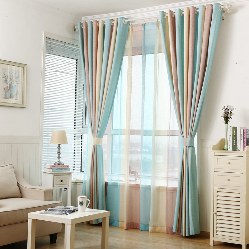 2016 design striped printed window curtains for the for Modern curtains for bedroom 2016