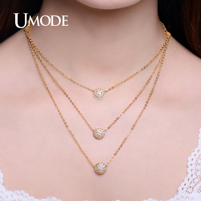 UMODE New 4 Designs Multi Layered Necklaces Gold / White / Rose Gold - Fashion Jewelry - Photo 5