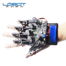 лучшая цена Open Source Somatosensory Gloves Wearable Mechanical Gloves Exoskeleton Body Control Robot Arduino Control