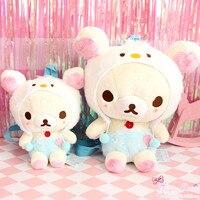 kids bags children backpack cartoon exquisite rilakkuma plush toy kawaii relax bear stuffed doll toys for christmas gift