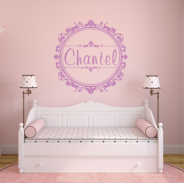 Name Stickers For Girls Room Custom Kids Name Baby Nursery Wall - Baby room decals