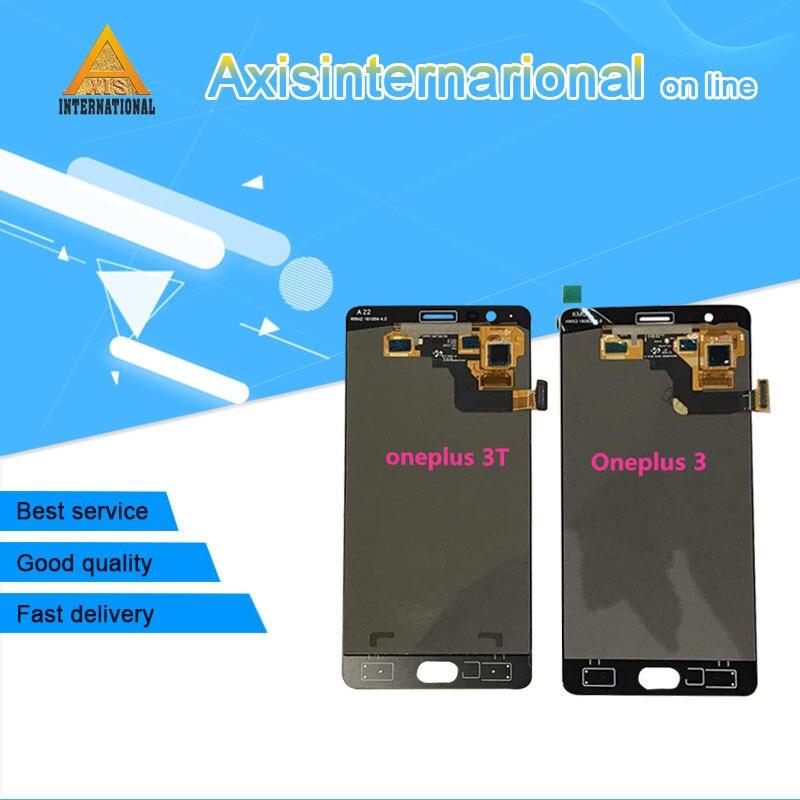 Pour Oneplus 3 t A3010 Axisinternational LCD écran Affichage + Écran Tactile Digitizer Noir/Blanc livraison gratuite