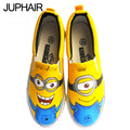 JUP 6 Styles Cartoon Kinds Hand Painted Canvas Shoes for Men Boys Males Baby Couples Low Despicable Me Minions Spongebob Fashion