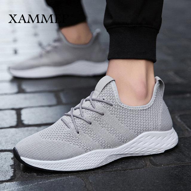 Men Sneakers Men Casual Shoes Brand Men Shoes Male Mesh Flats Plus Big Size Loafers Breathable Slip On Spring Autumn Xammep