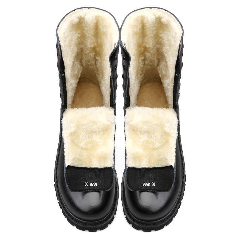 Mannen Winter Laarzen Mannelijke Sneeuw Enkellaarsjes Waterdicht Warm Bont Toevallige Boot Schoenen Outdoor combat laarzen 2019 Nieuwe Gratis Verzending