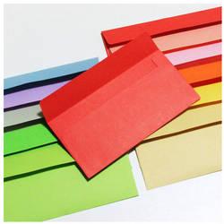 """50 шт. 85x170 мм (3,3 """"х 6,6"""") конфеты цветные конверты свадебные открытки конверт для подарков"""