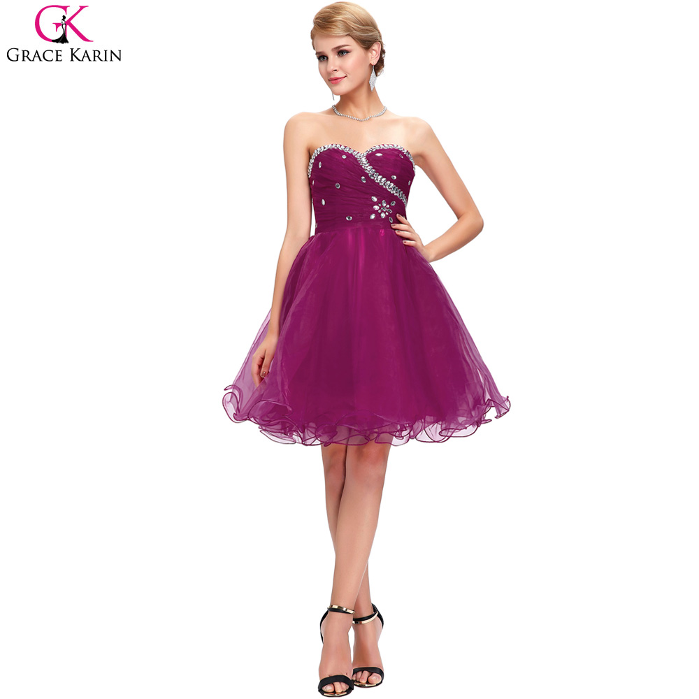 Grace karin cheap bridesmaid dresses under 50 purple blue pink grace karin cheap bridesmaid dresses under 50 purple blue pink short bridesmaid dress 2017 ball gown organza wedding party dress in bridesmaid dresses from ombrellifo Gallery
