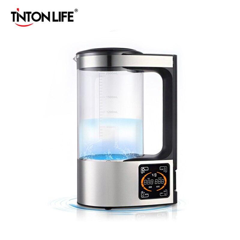 2L Riche D'hydrogène Bouteille D'eau Alcaline Machine Ioniseur D'eau filtre à Eau Boisson Générateur D'hydrogène De L'eau