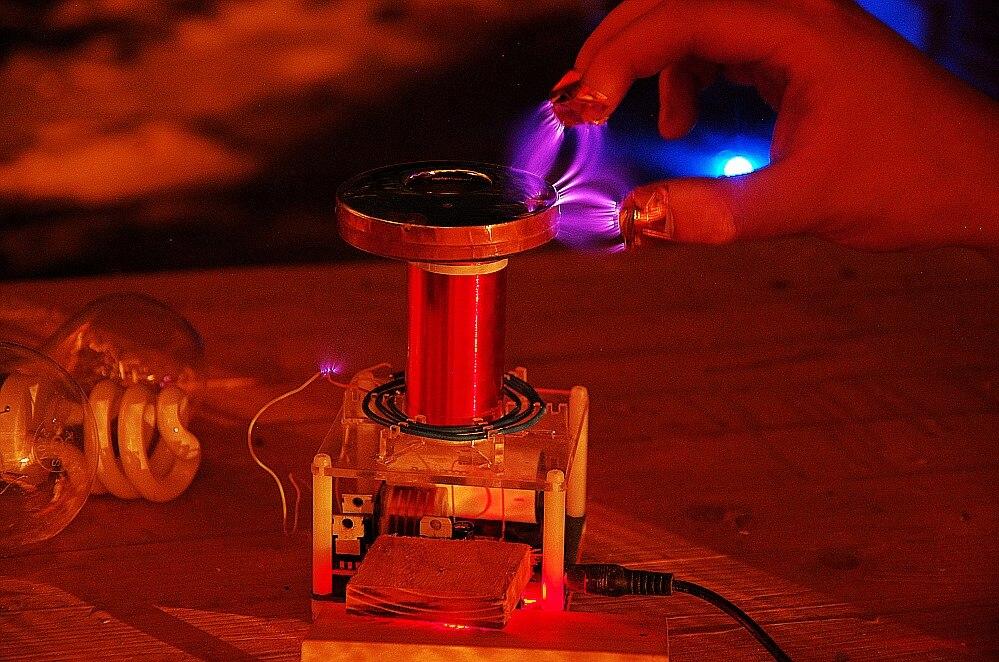 Micro tesla bobine CSTG éclateur tesla coil DIY Kits science physique jouet - 4