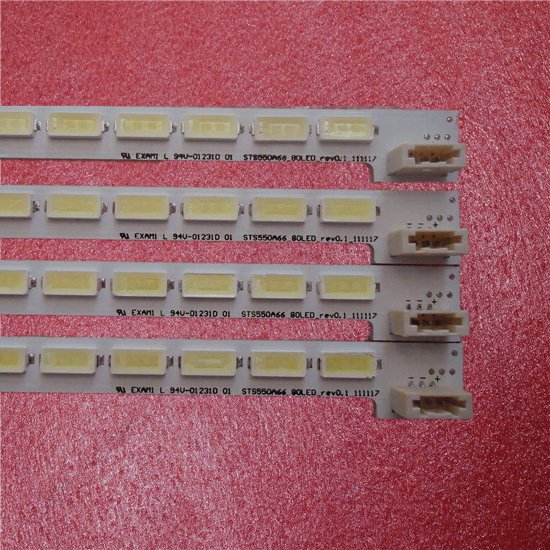 New 10 PCS 80 LEDs 676mm LED55X5000DE LTA550HQ22 550HQ20 HQ16 LED Strip LJ64-03515A STS550A66_80LED_rev0.1_111117