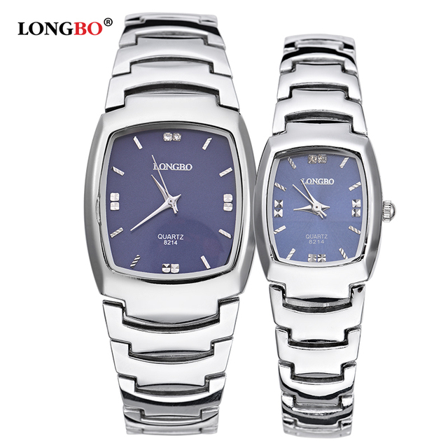 Longbo Brand Men Women Comple Brief Casual Quartz Crystal Wristwatches Luxury Fu