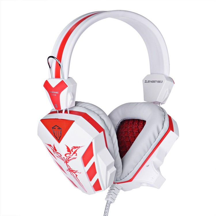 Cosonic CD-618 40mm Driver Unit Two-channel Stereo Gaming Headset Headphones with Volumn Control Mic LED Light for PC Computer (1)