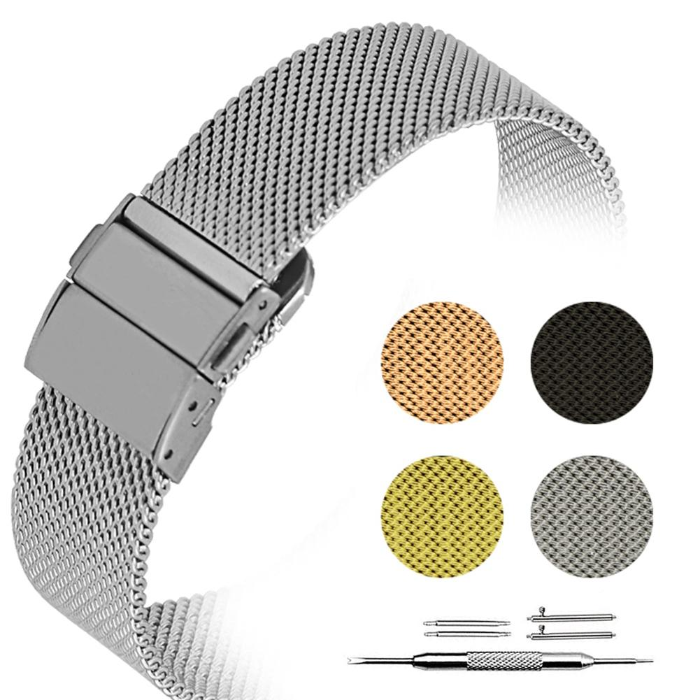 22mm Milanese Loop Strap For Samsung Gear S3 Galaxy Watch Active Band 20mm Stainless Steel Band For Gear S2 Amazfit