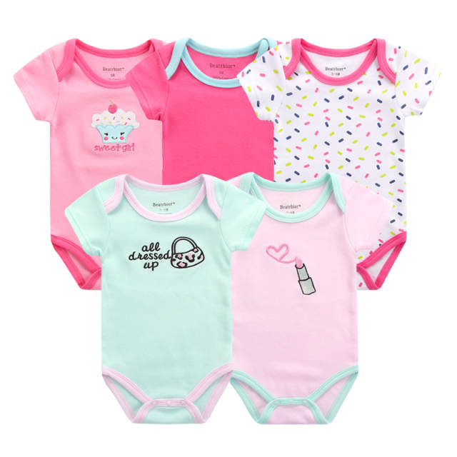 496bc68260a9 Online Shop 5pcs lot 2017 Summer Baby Bodysuits Body Bebes Baby ...