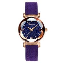 купить New 2019 Fashion Starry Sky Watch For Women Luxury Quartz Leather Casual Ladies Watch Roman Numerals Gift Clock relogio feminino по цене 230.33 рублей