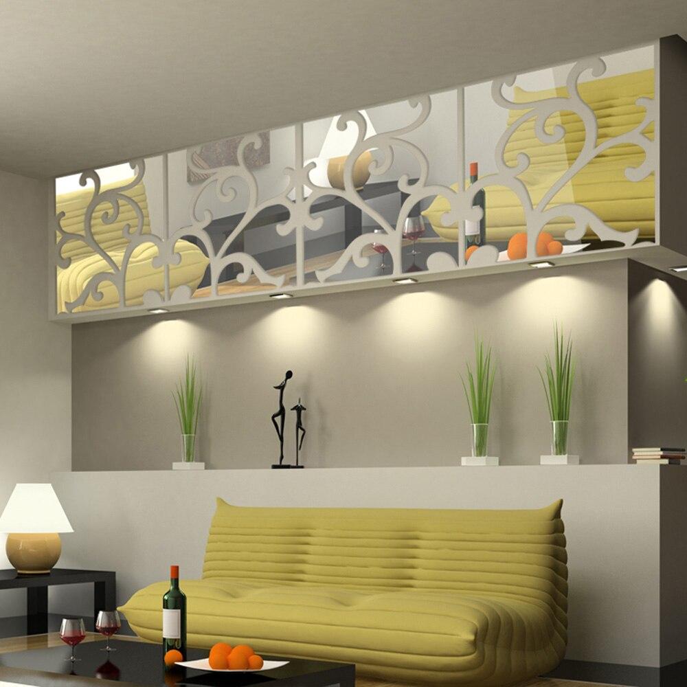 3d Diy Dekoration Spiegel Stick Moderne Wasserdichte Design Wohnzimmer Schlafzimmer WandaufkleberChina