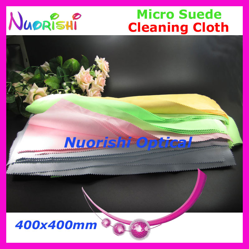 5pcs Big Size 400x400mm High Quality Micro Suede Glasses Jewelry Watch Cleaning Cloth can be water washed repeated use LC141