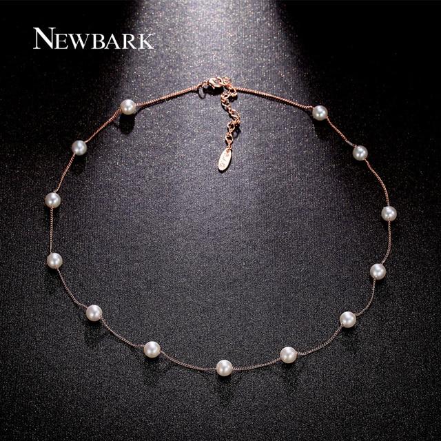 Célèbre NEWBARK 13Pcs Imitation Pearl Necklaces & Pendants Two Tone Retro  TC73