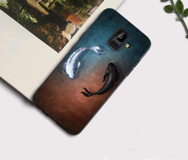 רך מקרה טלפון עבור Samsung S9 S8 בתוספת S7 S6 קצה J7 DUO J3 J5 J7 2017 אירופאי מהדורת דגי חתול שיש מקרה מכסה Funda Coque