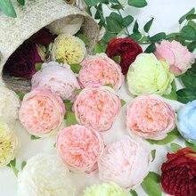 Silk Peony Flower head Artificial Bunch For Wedding Table Home Decoration DIY  Flores Decor