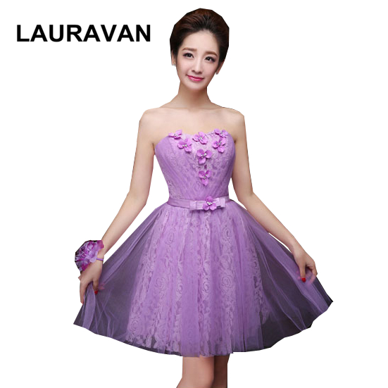 elegant lavender formal short   bridesmaid     dresses   beautiful sweetheart ball party   dress   with tulle for teen free shipping