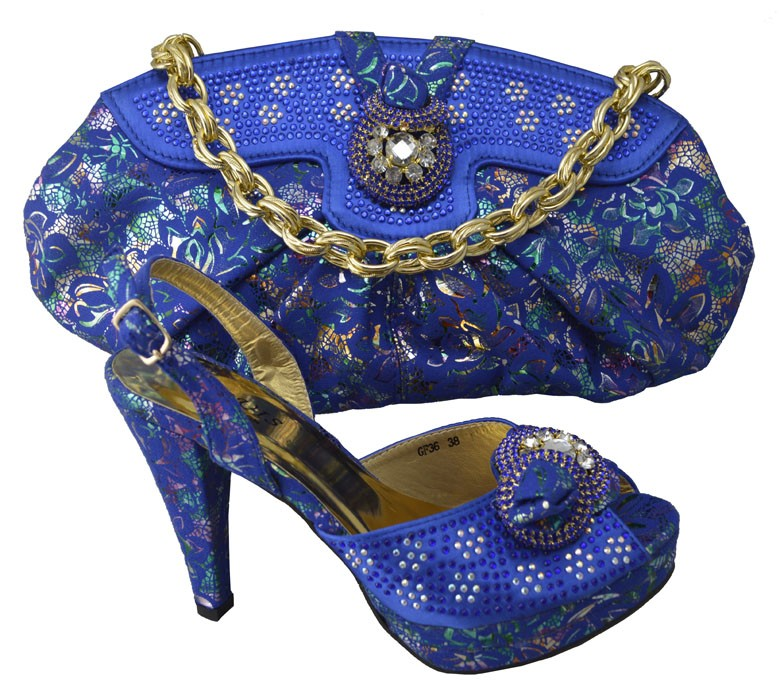 ФОТО Fashion African Design Rhinestone High Heel Shoes And Handbag Sets New Woman Shoes And Bag Set For Party Pink Color GF36
