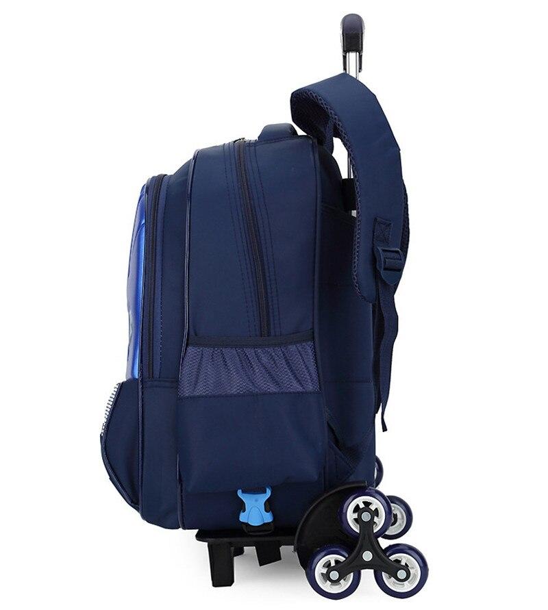 3D Cartoon hard shell Kids School Backpack 2 6 wheel Trolley School bags  boys Removable Children s Travel luggage Bag Mochila-in School Bags from  Luggage ... f98d79d8d5