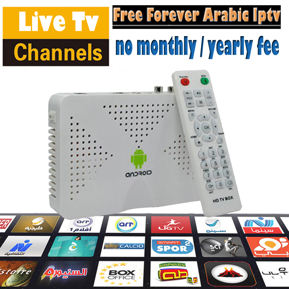 Arabic IPTV Box No Monthly Fee Android TV Box Support Arabic Africa Turkey  Sports Kids Channels 500 Arabic IPTV Best Set Top Box