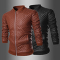 Black brown autumn spring mens leather jacket 1 stand collar Baseball Pilot Motorcycle mens high quality leather coat 2XL