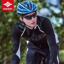 Sanitc Winter Bike Clothing Windproof Fleece Coat Thermal Bicycle Keeping Warm Ropa Ciclismo Jacket Bicycle Cycling Jacket Men santic cycling jersey sets men 2018 autumn winter road bike cycling clothing fleece keep warm bicycle jacket ropa ciclismo