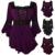 Vintage retro mujeres ruffle dress gótico vestido de túnicas de encaje encima de la camisa dress túnica femenina más el tamaño de vestidos de fiesta de manga larga 4xl 5xl