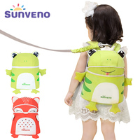 SUNVENO walker Harnesses Leashes toddler baby Harnesses backpack Cute kid baby backpack 3D Animal Prints Children Backpack M153