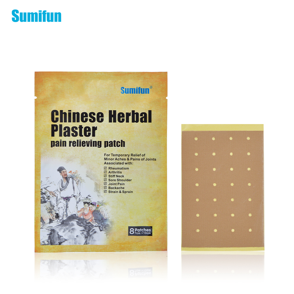 8Pcs/Bag Chinese Herbal Pain Relief Patch Strong Penetration Medical Pain Plaster Arthritic/Back Pain Killer K01401