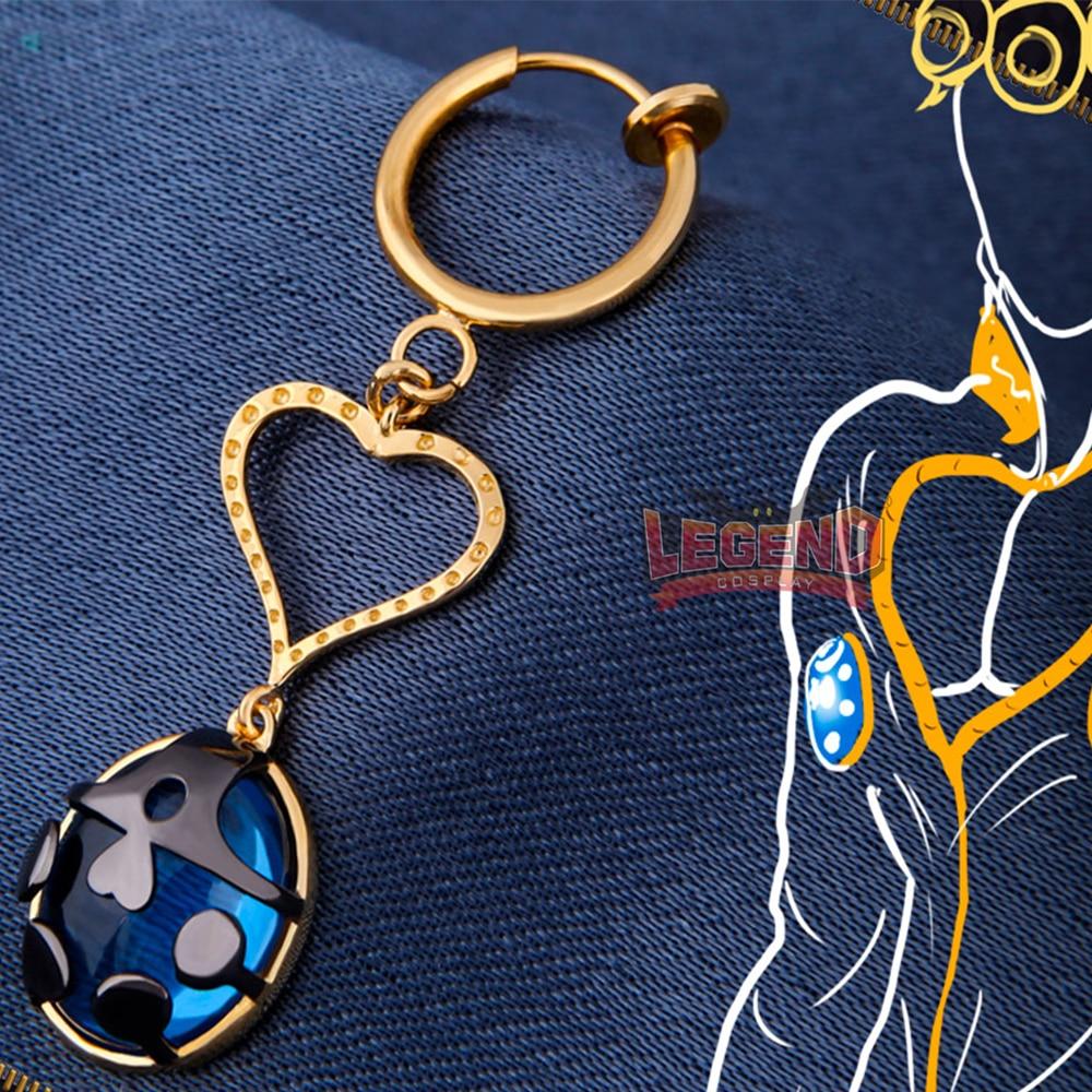 Anime JOJO JoJo s Bizarre Adventure Golden Wind Giorno Giovanna Cosplay eardrop earrings ladybird props accessories