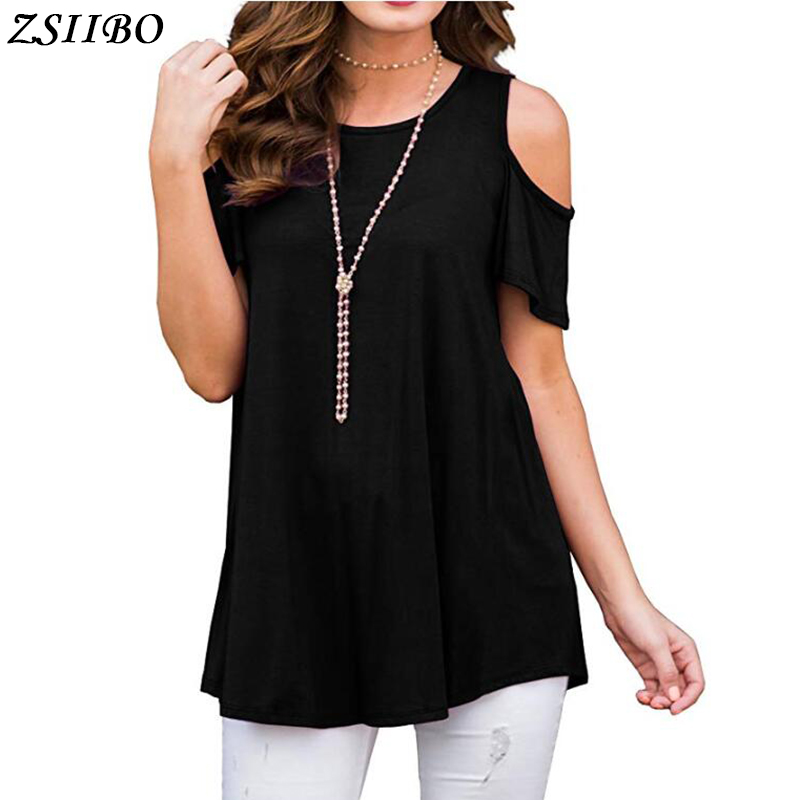 2019Summer Women Chiffon Blouse Short Sleeve Black Ladies Office Ladies Shirt Plus Size Work Top Plus Size Casul Female Clothing