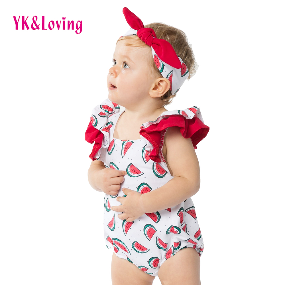New Style Cool Cotton Bodysuit For Baby Girl Watermelon Baby Clothes Cute Girls -1719