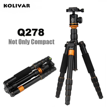 On sale KOLIVAR QZSD Q278 Lightweight Compact Tripod to Monopod Ball Head for Canon Nikon DSLR Camere/Portable Reflexed Camera Stand