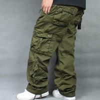 Tide Loose Plus Size 46 Cargo Pants Overalls Hip Hop Men's Cotton Trousers Hiphop Men Baggy Casual Pants Mens Bottoms Camouflage
