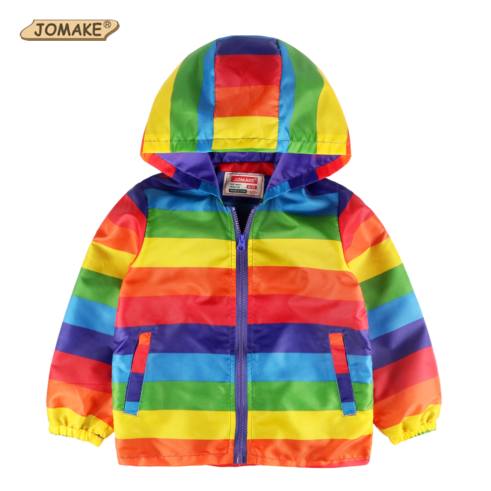 JOMAKE 2017 Brand Kids Clothes Boys Jackets Children Hooded Windbreaker Toddler Baby Coat Infant Waterproof Hoodies For Girls