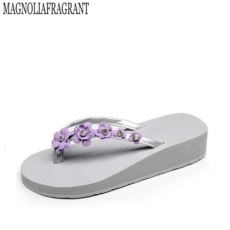 2017 Summer Style Flowers Sandals Womens Shoes Cheap High -6202